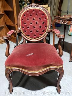 Antique Victorian Parlor Arm Chair