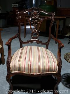 Chippendale Victorian Arm Chair