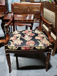 Beautiful Wooden Cane Back Accent Chair