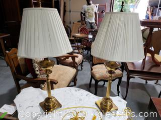 Pair of Decorative Brass Table Lamps