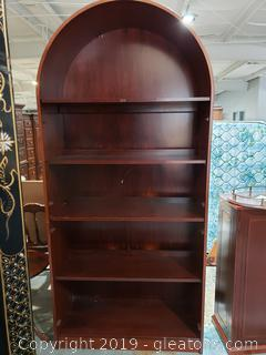 Large Arch Shaped Lighted (5) Shelf Book Case