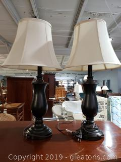 PR of Metal / Espresso Color Table Lamps