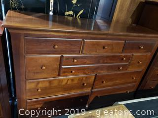 Tall (10) Drawer Wood Dresser W/No Mirror