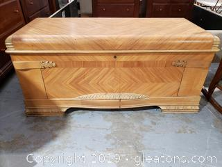 . Inlaid Wooden Cedar Chest