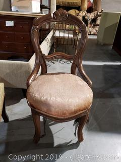 Victorian Castered Accent Chair