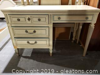"""Dixie"" French Provincial Footed Desk"