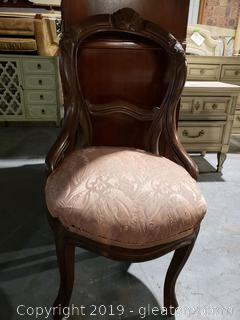 Small Hand Carved Antique Parlor Chair
