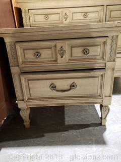 """Dixie"" (2) Drawer Footed Night Table"