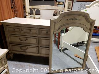 "Small Painted French ""Dixie"" Dresser"