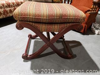 "Wooden ""Sherrill"" Pillow-Top Vanity Chair/Bench"