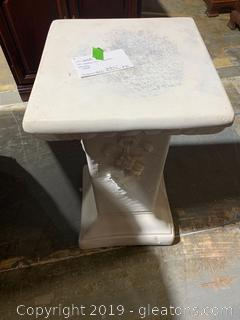 Shabby Chic Column Plant Stand