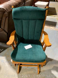 Solid Wood Country Rocker with Cushions