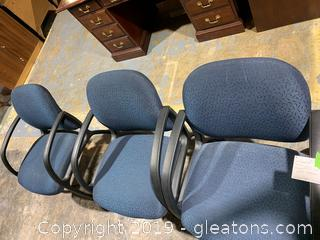 Set of Office Accent Chairs