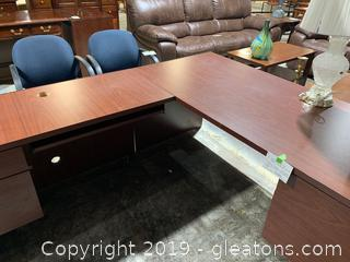 Wooden Executive Office Desk