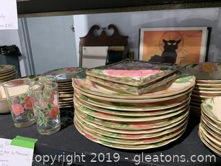 Desert Rose by Franciscan Collection of Dinnerware