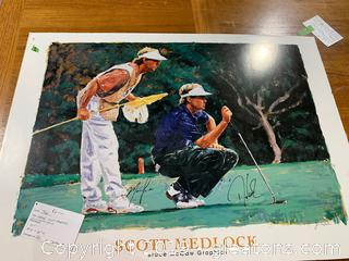 Signed Scott Medlock Graphic-Down to the Finish