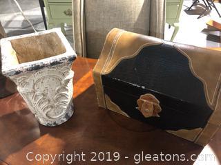 Chest + Vase