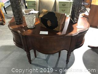 Elegant Curved Desk with Chair