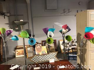 Multi-Color Tree Floor Lamps (5)