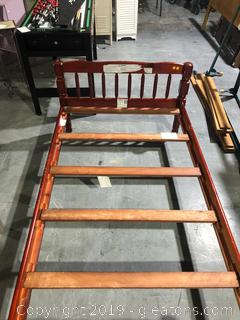 Cherry Wood Twin Bed Frame