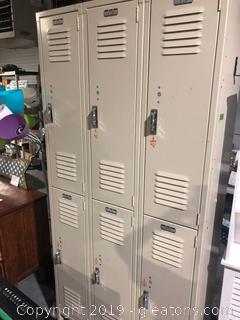 Six Unit Locker System