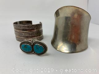 Sterling Bangles and Ring