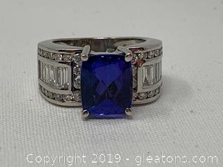 Appraised Tanzanite and Diamond Ring 18k $14,700