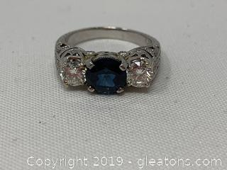 Appraised Sapphire and Diamond Ring 14k $12,500
