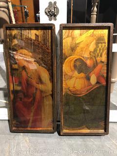 Pair of Free Standing Angel Art Prints