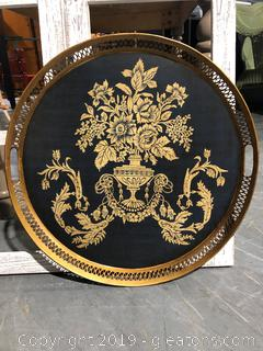 Round Handled Serving Platter