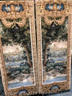 Pair of Hanging Wall Tapestries