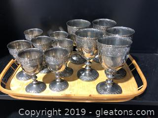 Silver Plated Water & Wine Goblets