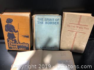 Zane Grey Hardback 1st Editions & Paperbacks
