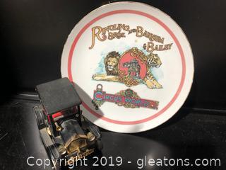 Vintage Ringling Bros. Decorative Platter With 1917 Model T