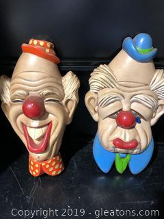 Colorful Clown Ceramic  Decor