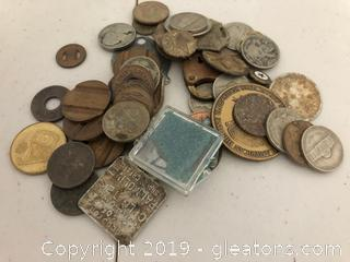 Assorted Tokens, Nickels & Buffalo Nickels, 1994 University of Georgia Coin