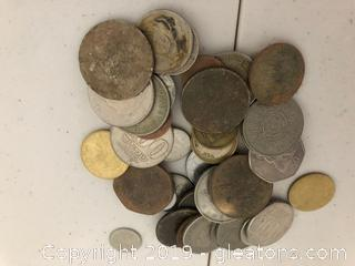 100 Miscellaneous Foreign coins