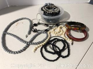 Mis. Faux Pearl Jewelry Lot # 2