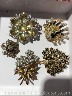 Vintage Brooches - 5