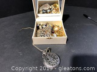 Misc Jewelry / Mini Jewelry Box & Anker Silver Packet Watch