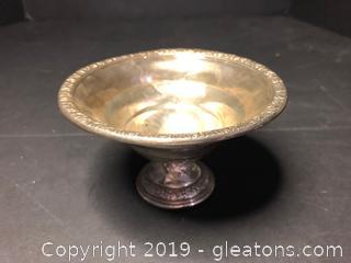 Sterling Filled and Reinforced Pedestal Bowl
