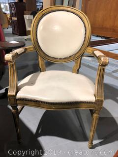 Antique Parlor Chair Louis XVI B