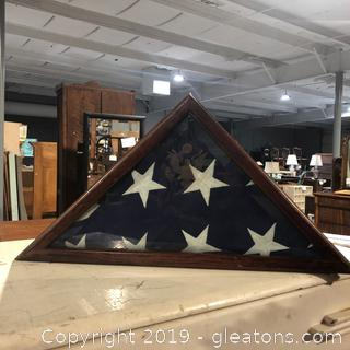Flag Display Case Military Flag Shadowbox
