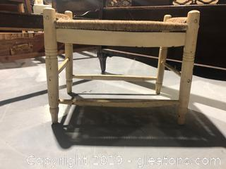 Hand Woven Bench