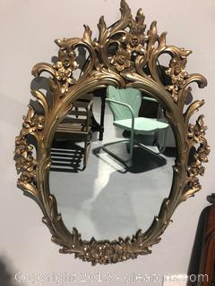 Beautiful Floral Hand Carved Mirror