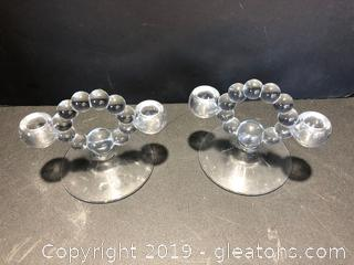Pair of Double Candle Holders
