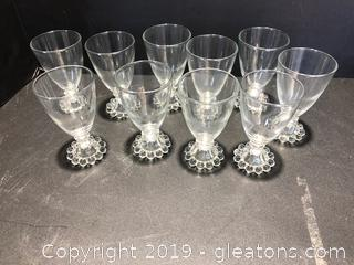 Imperial Candlewick Juice/Dessert Glasses