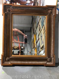 Vintage Beveled Wall Mirror