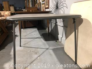 Grey Portable Table
