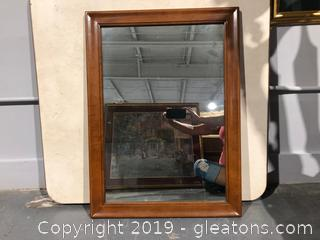 Wall Mirror with Wooden Frame